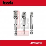 "Adapter, fúrógépbe fogható 1/4""-3/8""-1/2"" 3 db-os - KWB (49105310)"