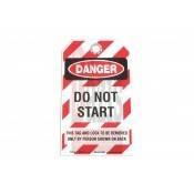Biztonsági címke - ANGOL feliratos - Do Not Start (LAS-6675)