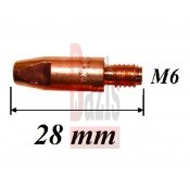 CO áramátadó fúvóka normál M6x28x8 mm x 1,2 mm MB25AK+MK24KD pisztolyhoz (18027)