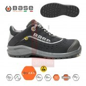 Munkavédelmi cipő BASE - Be-Style S1P ESD SRC fekete-szürke 45-ös (B0886BKG45)