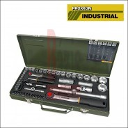 """Dugókulcs készlet 1/4"""" - 1/2"""" 4-32 mm 56 db-os 6 lapú PROXXON 23.040(23040)"""
